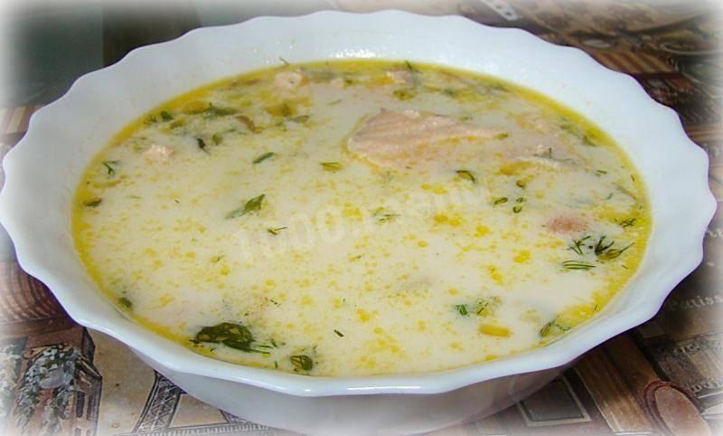 Норвежский сливочный суп с сeмгой