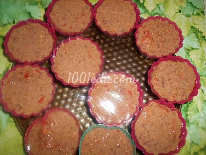 Кексы из куриной печенки для микроволновки