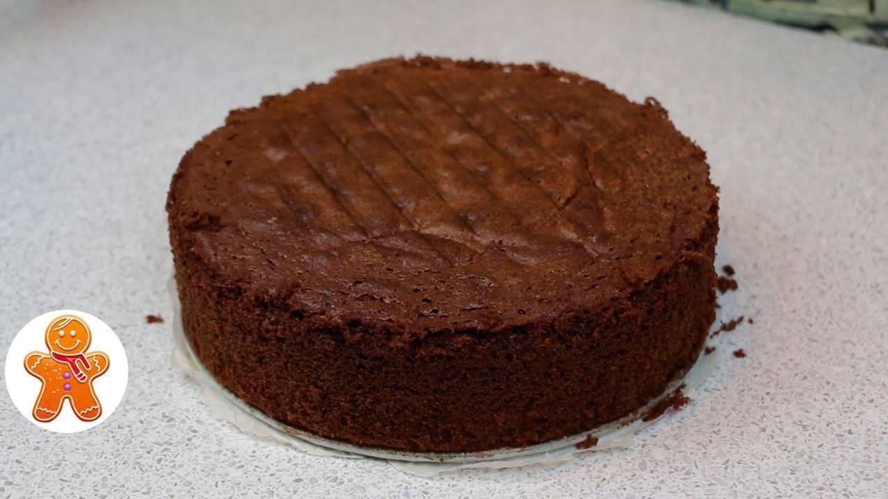 Бисквит шоколадный на раз-два-три