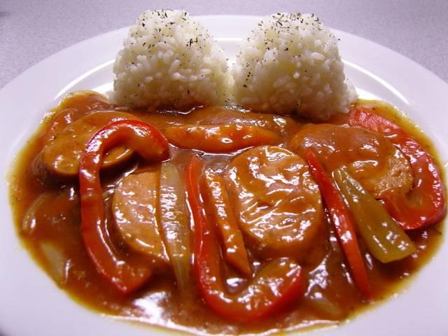 Поджарка из свинины в сладком соусе