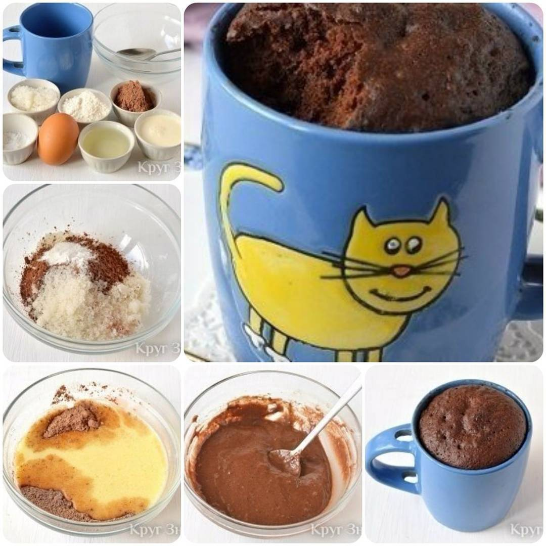 Вот попробовала и я кекс в кружке за 3-5 минут :))) быстро! вкусно!..и просто!!!