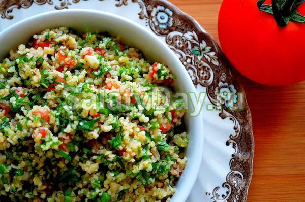 Турецкий салат с булгуром (turkish salad with bulgur) - вкусные заметки