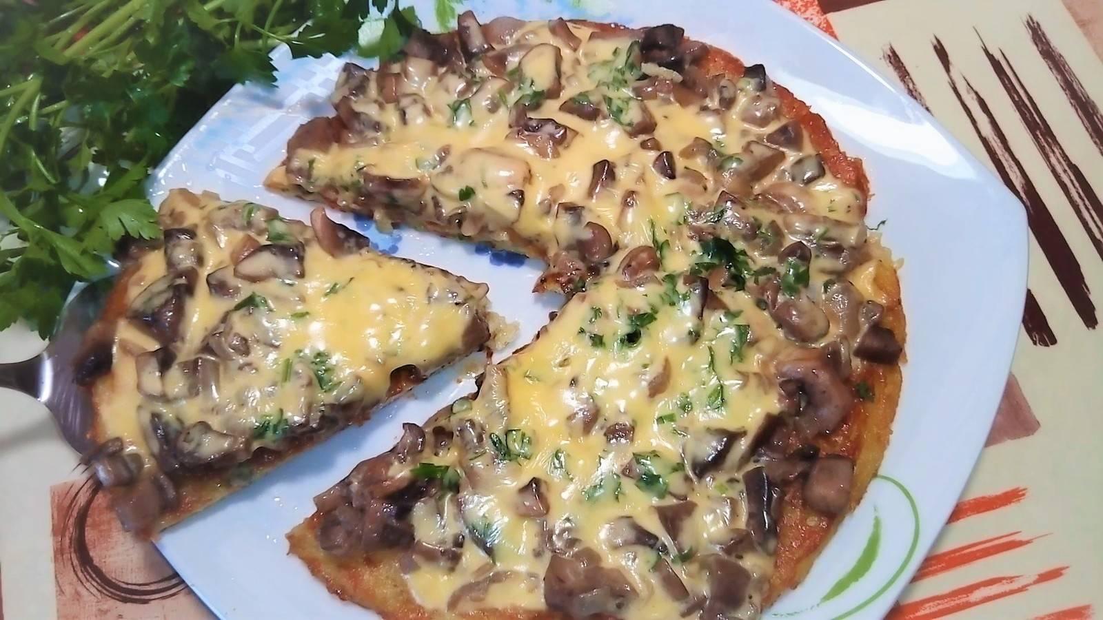 Пицца из картофеля на сковороде рецепт