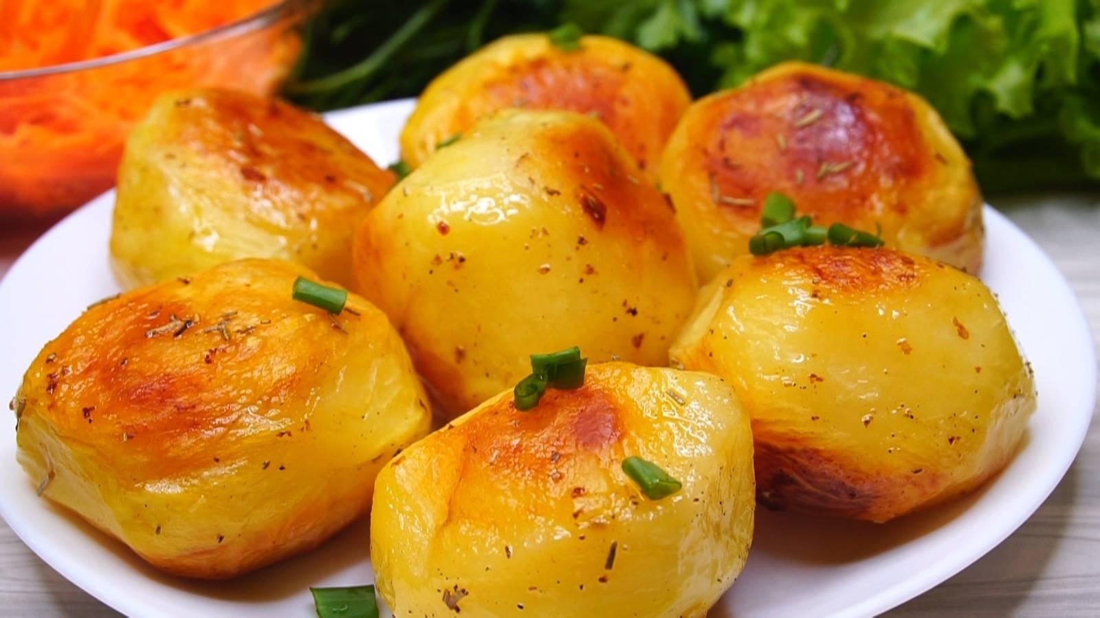 Хрустящая картошка запеченная в духовке – рецепт пошаговый с фото