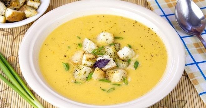 Гороховый суп-пюре ароматный