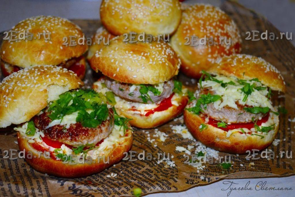 Булочки для гамбургеров — лучшие рецепты. как правильно и вкусно приготовить булочки для гамбургеров