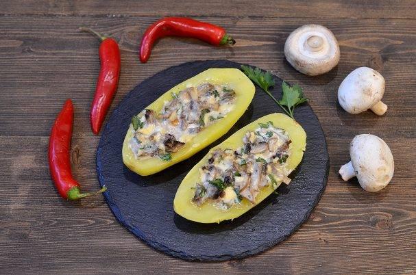 Фаршированный картофель – как приготовить по рецептам с фото в духовке или мультиварке
