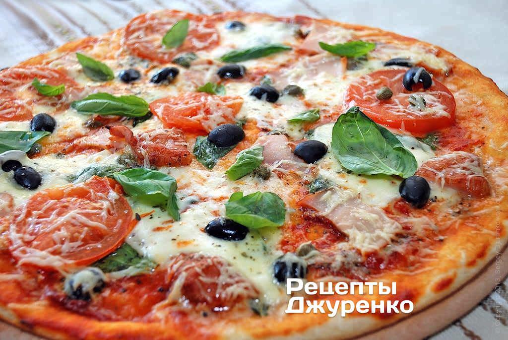 Замечательные рецепты пиццы с сыром моцарелла