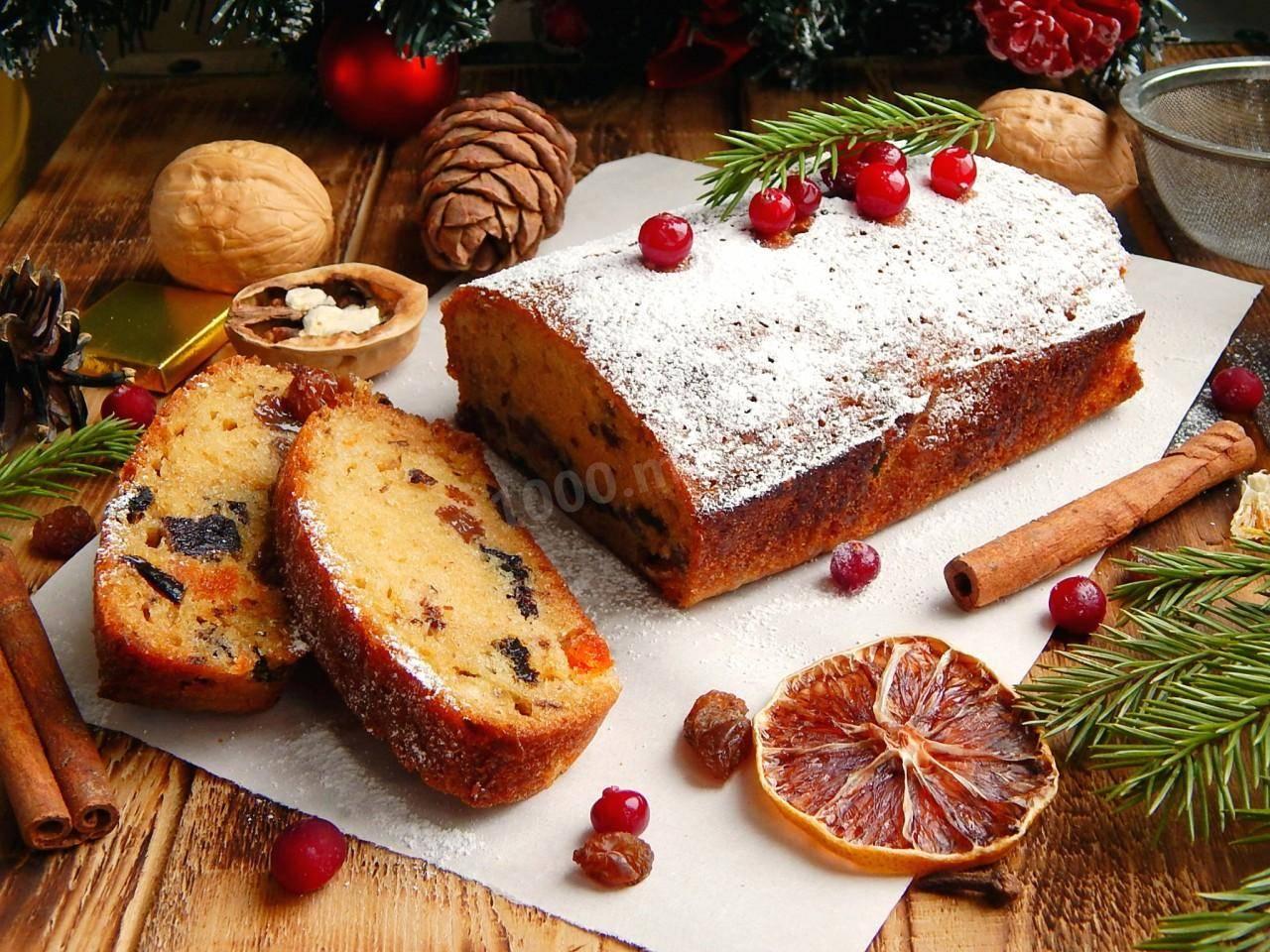 Ореховый кекс с грецкими орехами и сухофруктами