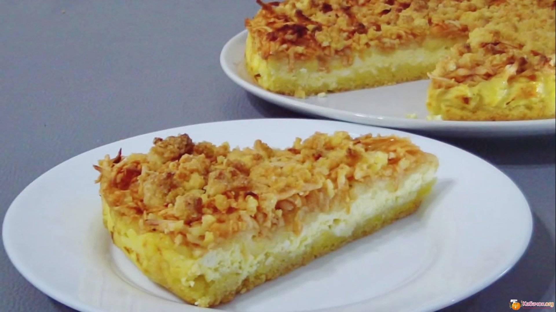 Пирог с творогом и яблоками - самое вкусное лакомство для детей и не только!
