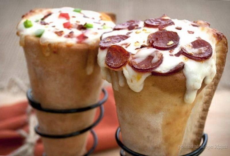 Пицца в рожках  рецепт с фото