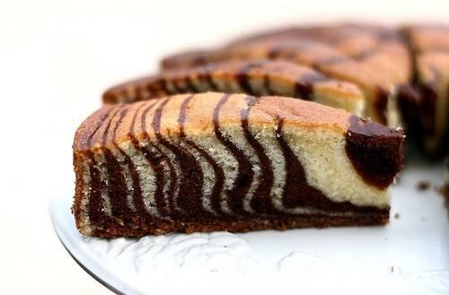 Мраморный кекс на сыворотке
