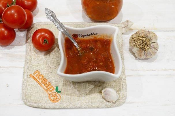 Соус из помидоров и перца на зиму - 10 пошаговых фото в рецепте