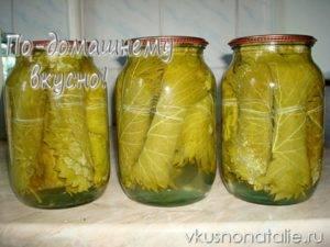 Как мариновать виноградные листья для долмы на зиму: рецепт с фото, секреты приготовления