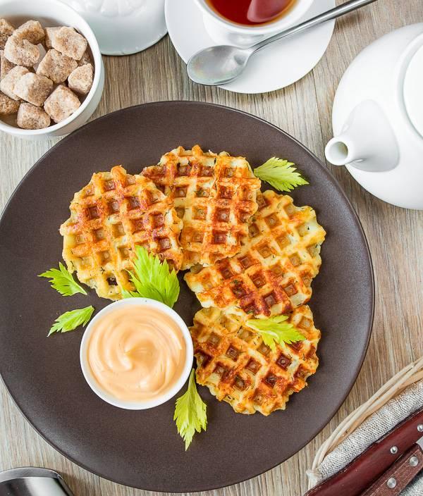 Картофельные вафли в вафельнице - 13 пошаговых фото в рецепте