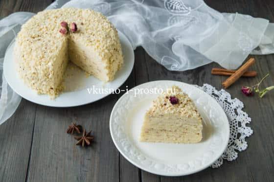 Бисквитный торт на сковороде