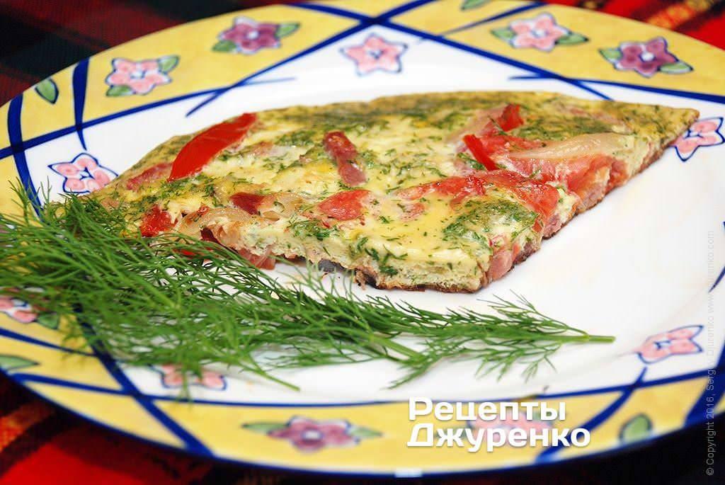 Фриттата с помидорами и сыром - рецепт итальянского омлета