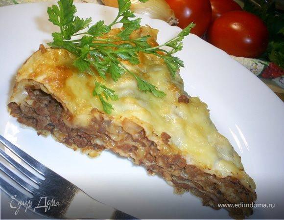 Лазанья из лаваша с фаршем запеченная в духовке: пошаговый рецепт