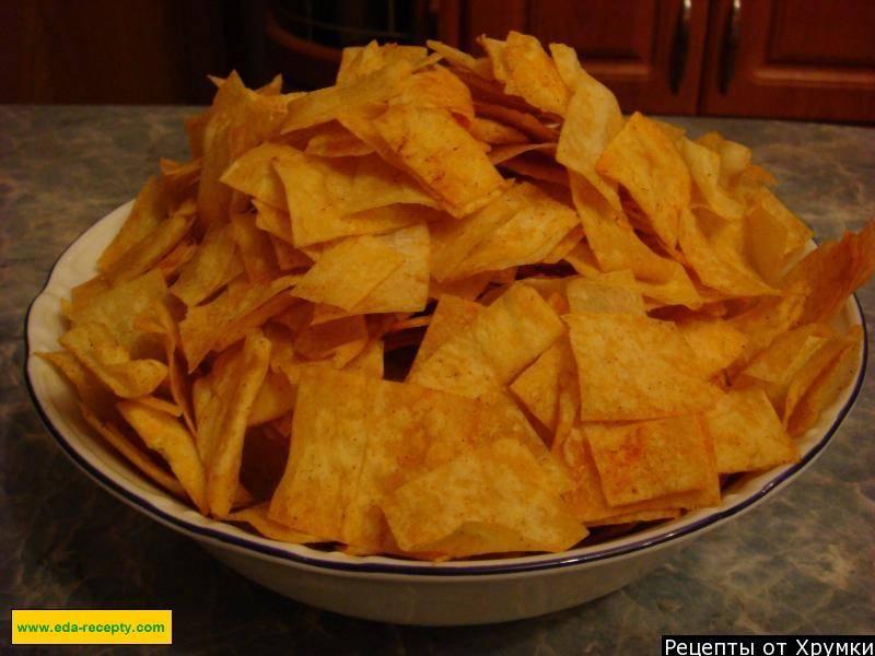Чипсы из лаваша в духовке, микроволновке и на сковороде - рецепты с сыром, сметаной, паприкой