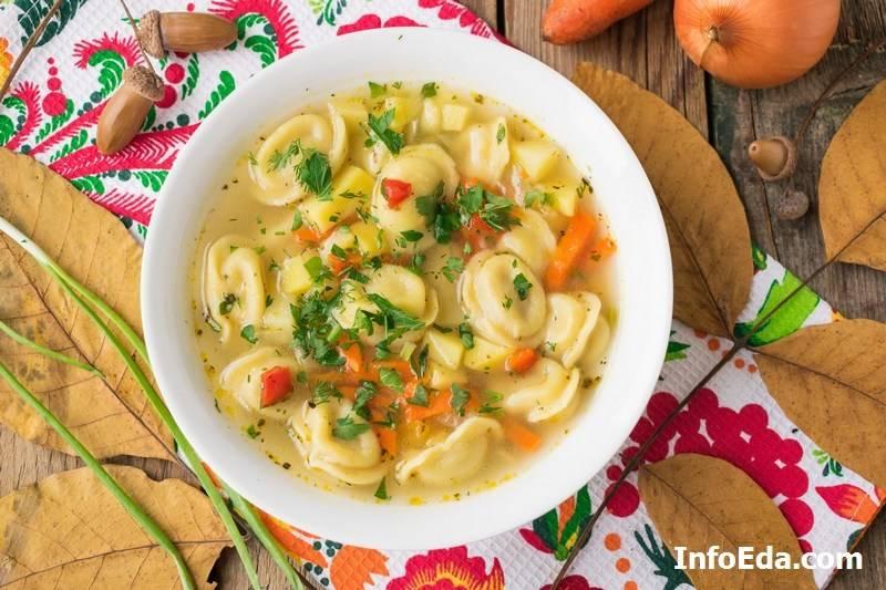 Суп с пельменями - рецепты джуренко