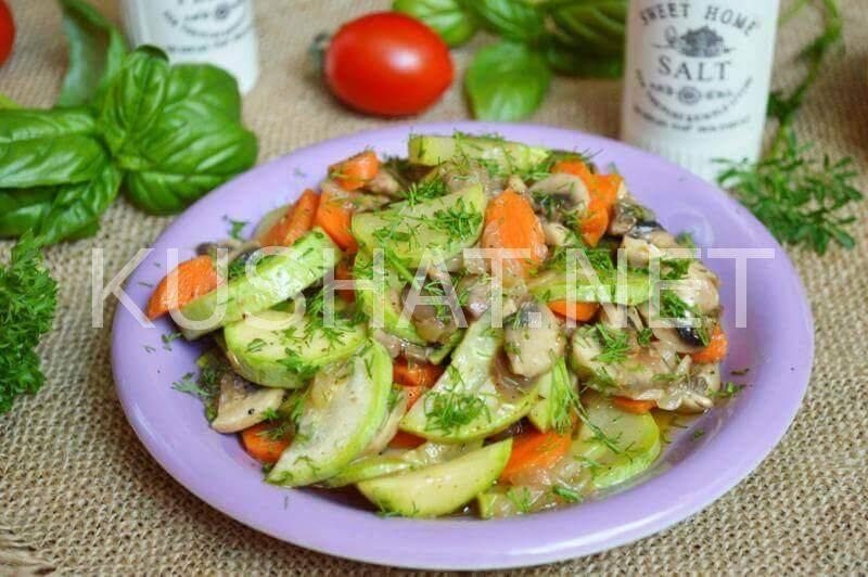 Кабачки с грибами в духовке. пошаговый рецепт с фото • кушать нет