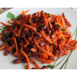 Вкусный салатик с корейской морковкой