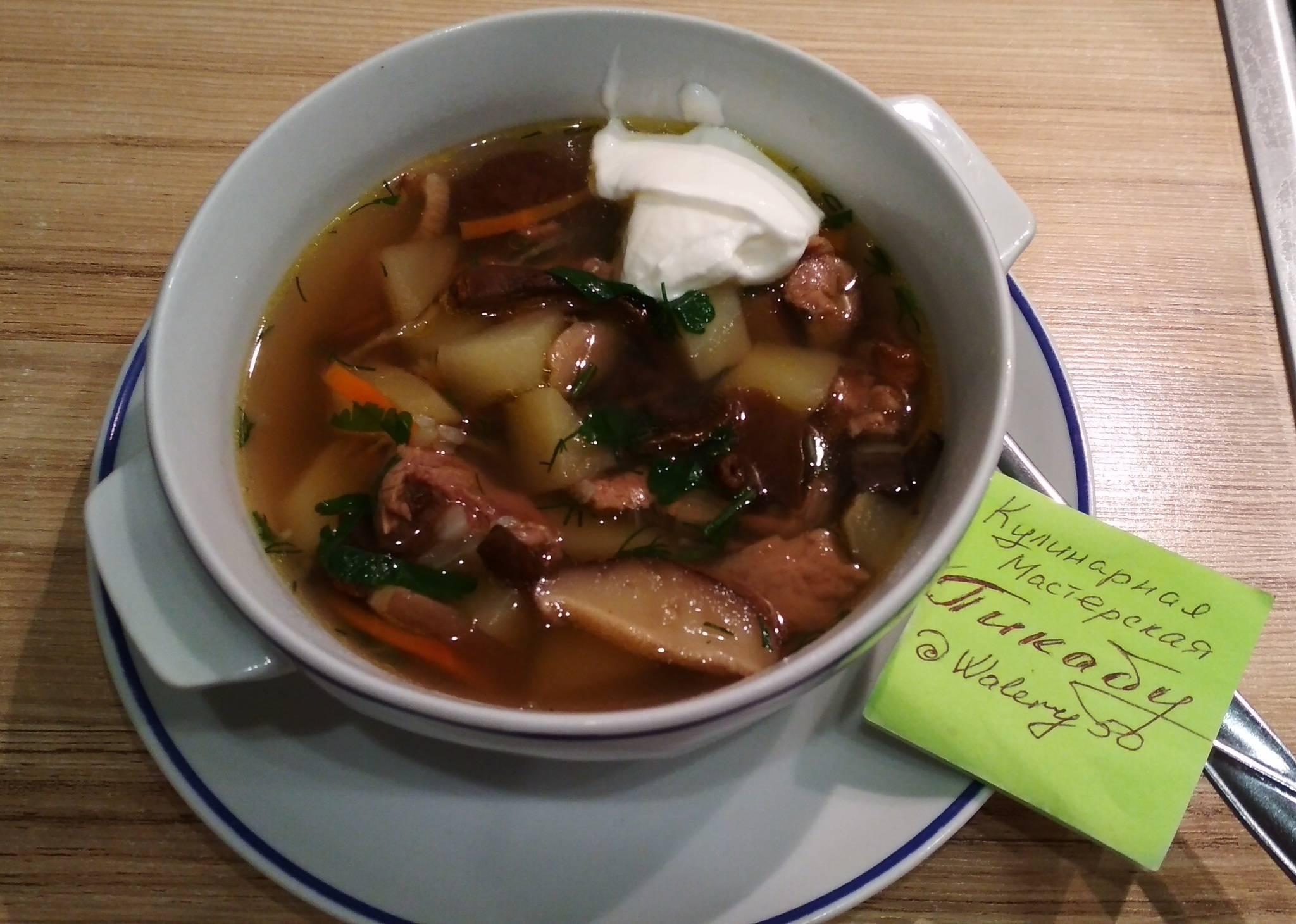 Грибной суп с перловой крупой