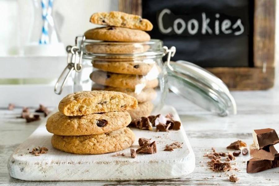 Рецепты печенья с шоколадной крошкой, каплями