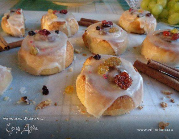 Сладкие булочки улитки с сахаром