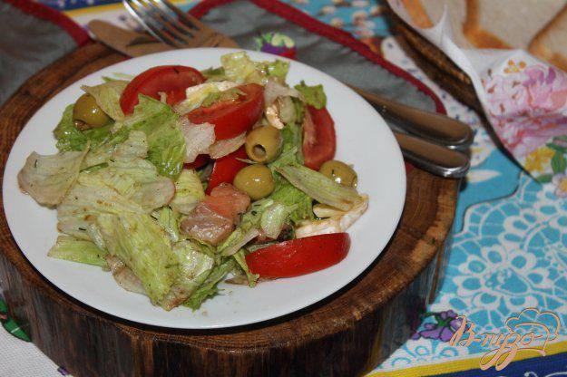 Салат со стручковым зелёным горошком