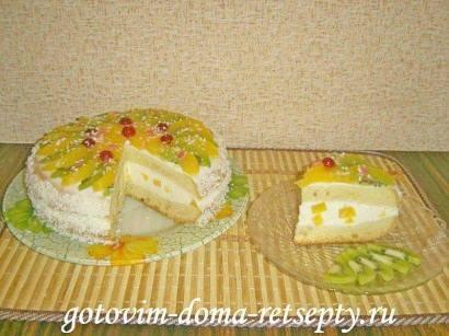 """Торт """"рыжик"""" со сметанным кремом"""