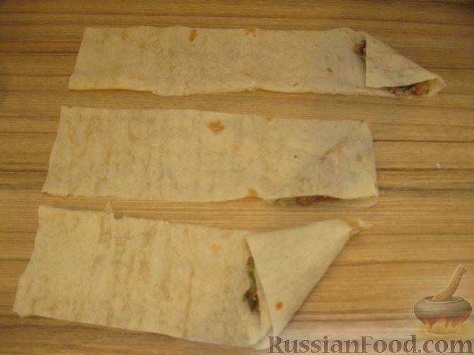 Пирожки-сигары из лаваша с картошкой – рецепт с фото