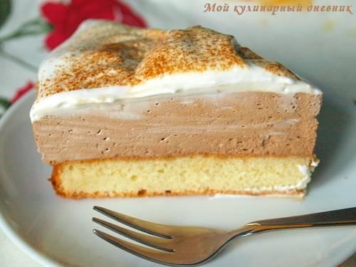 Бисквитный торт с кофейным кремом