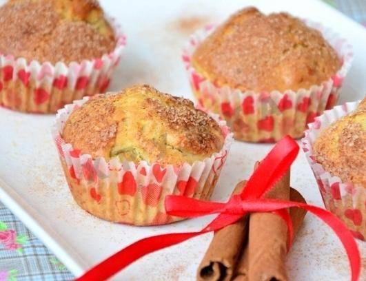 Кексы с яблоками - 12 пошаговых фото в рецепте