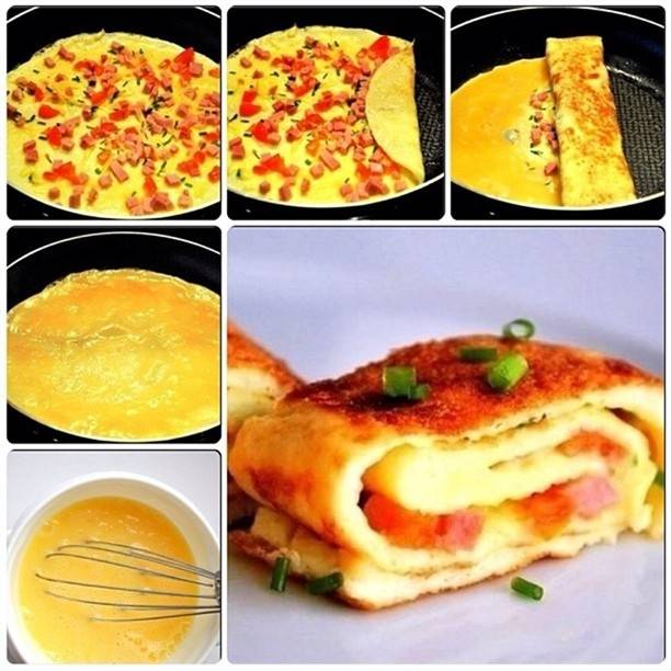 Омлет с сыром рецепт на сковороде рецепт