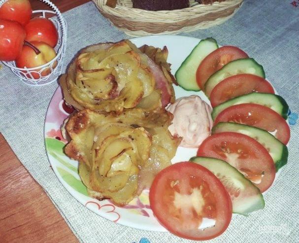 Розочки из картофельного пюре
