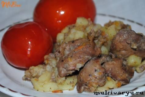 Жареная куриная печень с картошкой — бюджетное, простое и очень вкусное блюдо