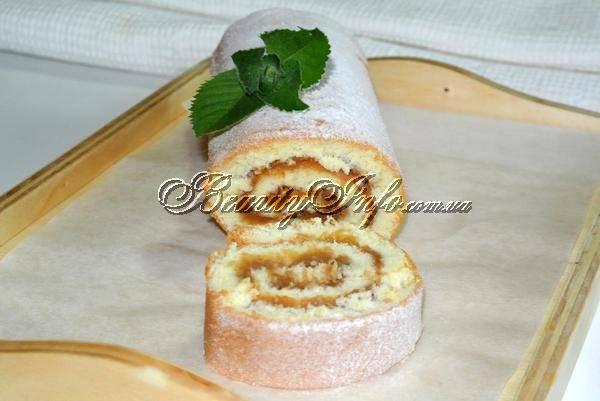 Бисквитные рулеты с начинкой рецепты с фото