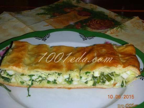 Ленивый пирог с колбасой и сыром