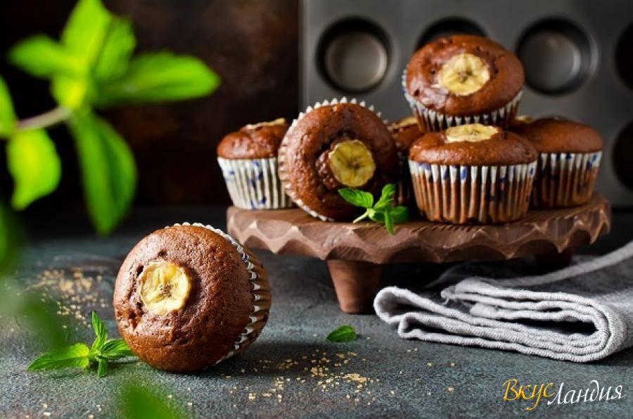 Бананово-кофейный кекс с шоколадом
