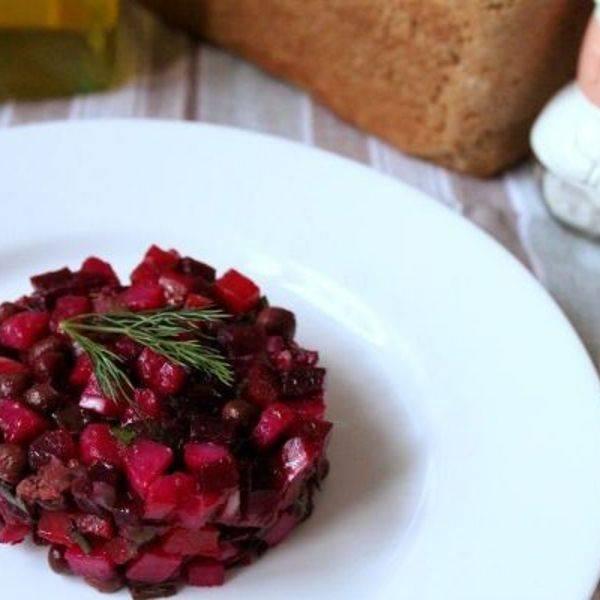 Винегрет с зеленым горошком: рецепт с фото, секреты приготовления