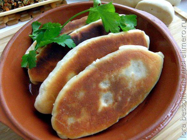 Простой рецепт домашних жареных пирожков с грибами за 25 минут