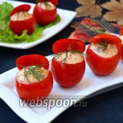 Фаршированные помидоры с сыром и чесноком - 5 пошаговых фото в рецепте
