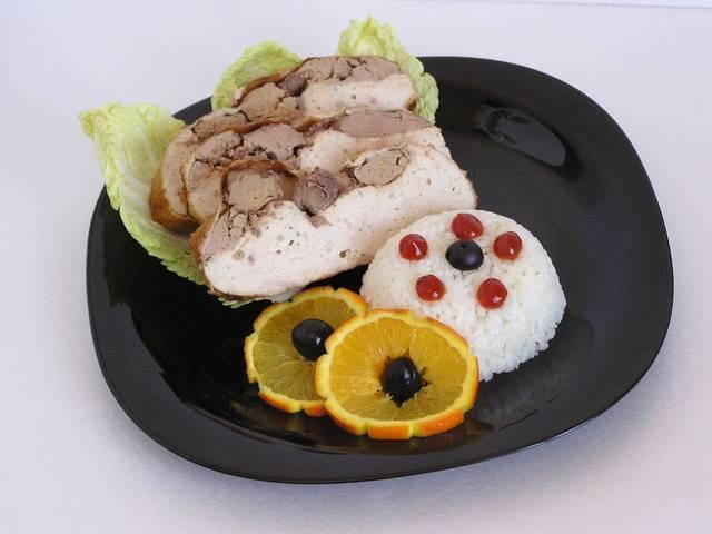Курица фаршированная рисом в аэрогриле