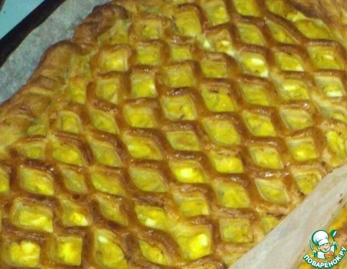 Французский луковый пирог  - пошаговый рецепт с фото |  выпечка