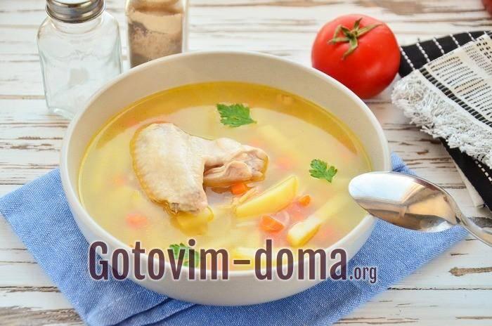 Суп с куриными крылышками - быстро и просто