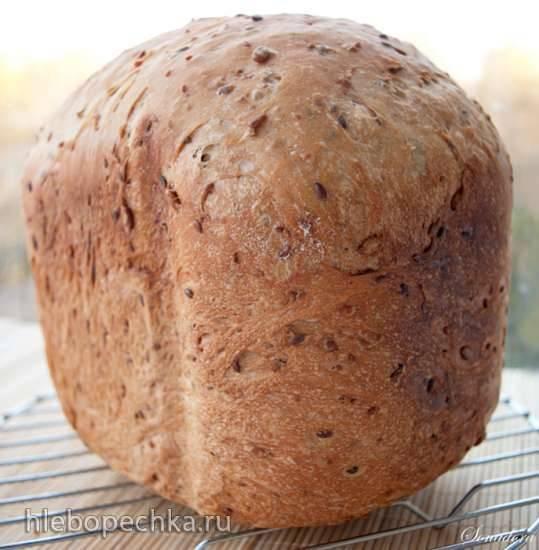 Хлеб с тмином и семенами подсолнуха