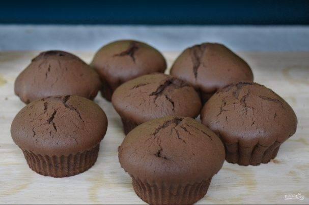 Классические маффины с шоколадными каплями