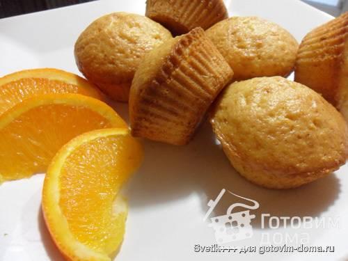 Апельсиновые кексы с шоколадом