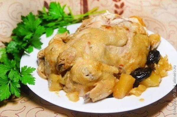 Фаршированная курица в китайском соусе в мультиварке